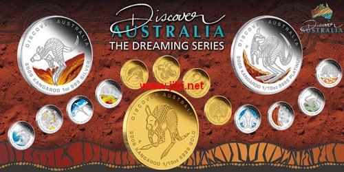 澳大利亚发行澳大利亚原始野生动物纪念币
