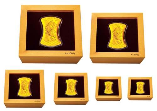 代表目前中国贵金属铸造业最高的设计质量,模具制作质量,金银坯饼制作